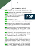 cronologia historia de españa