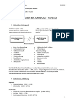 Handout - Zeitalter der Aufklärung pdf