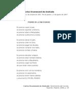 Poema de La Necesidad, Carlos Drummond de Andrade