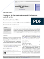 Solution of the Fractional Epidemic Model by Homotopy Analysis Method