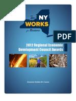 New York 2012 Regional Economic Development Council Awards