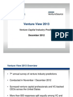 Venture Capital predictions for 2013