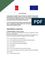 Programma Lezioni d Europa 2012 13