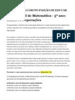 Prova Brasil de Matemática D 13  a  D 25 5º ANO- GRUPO PAIXÃO DE EDUCAR