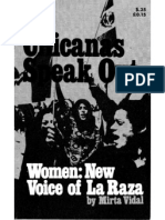 Chicanas Speak Out Women New Voice of La Raza by Mirta Vidal New York 1971