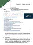 Role of the Program Convenor
