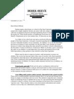Councilman Derek Reeve's Letter to Schools