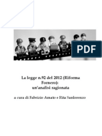 Commentario legge Fornero
