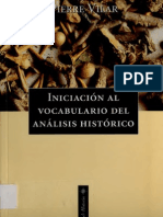 Iniciación al vocabulario del análisis histórico