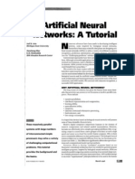 Artificial Neural Networks a Tutorial Ieee