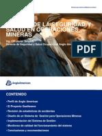 Gestion SSO en  operaciones mineras