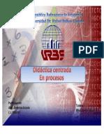 Didáctica centrada en procesos