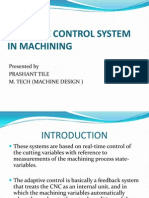 Adaptive control system in machining