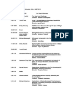 Thesis Day Presentation Schedule SP 12