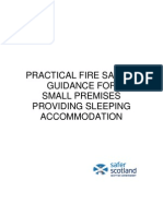 Small Premises Fire Safety Advice (other than HMO) Scotland