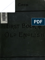 A First Book in Old English Grammar Reader Notes and Vocabulary 1900
