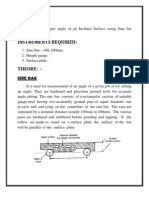 metrology sine bar lab manual