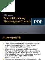 Faktor-faktor yang Mempengaruhi Tumbuh Kembang