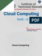 Cloud Unit II