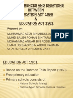 The Differences and Equations Between Education Act 1996