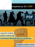 Skills & Competency for CSIRT