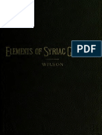 Elements of Syriac Grammar by an Inductive Method Robert Dick Wilson