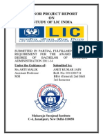 Minor Project Report on a Study on l.i.c