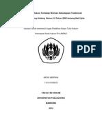 Perlindungan Hukum terhadap warisan budaya tradisional ditinjau dari UU no 19 tahun 2002 tentang hak cipta