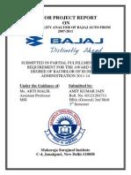 Minor Project Report on Bajaj Automobiles India