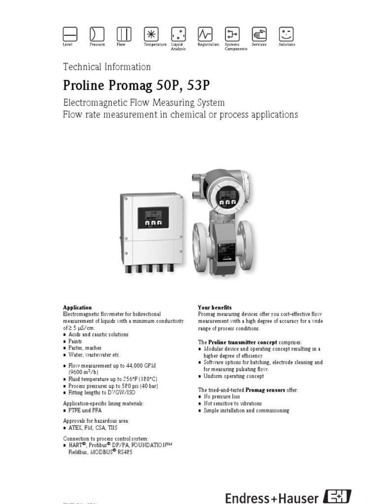 Proline Promag 50P, 53P | Flow Measurement | Cable
