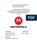 MINOR PROJECT REPORT ON Analysis of Marketing Strategy of Motorola Handsets BBA