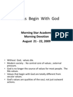 Values Begin With God