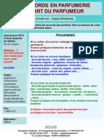 Formation Continue Les Accords en Parfumerie Art Du Parfumeur 2013
