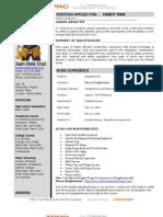 Western Resume Example
