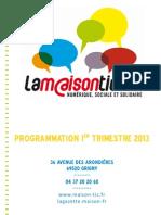 Programmation 1e Trim 2013