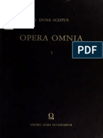Johannes Duns Scotus Opera Omnia Volume 1
