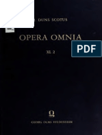 Johannes Duns Scotus Opera Omnia Volume 11, part 2