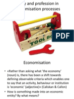 Policy and profession in economisation processes
