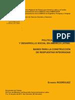 Políticas de juventud y desarrollo social-Rodríguez