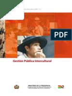 Gestión pública intercultural-Min de la presidencia