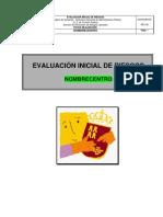 Modelo de Informe para Evaluación de Riesgos