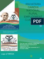Mahatama Gandhi National Rural Employment Guarantee Act