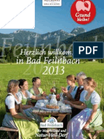 Gastgeberverzeichnis Bad Feilnbach 2013
