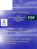 Strategic Marketing- Lecture -Session 2