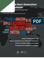 Appcelerator/IDC Q4 2012 Mobile Developer Survey