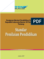 112262859 Permen No 20 Standar Penilaian Pendidikan