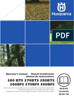 Husqvarna 580BTS Owners Manual
