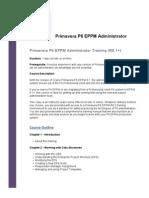 Primavera-P6-EPPM-Administrator-Training