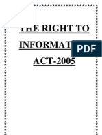 RTI Act DepartmentalManual 2012