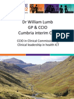 Dr William Lumb - 'CCIO in Clinical Commissioning/Clinical leadership in health ICT'
